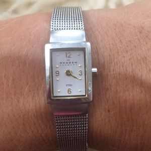 Skagen stainless steel watch - gold and silver
